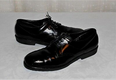 Iron Age Steel Toe Black Leather Safety Oxford Shoe Made in USA Men's 9 D