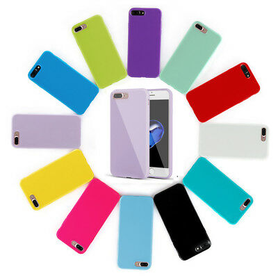 For iPhone 8 Plus 7 Plus Case Ultra Thin Soft Shockproof Silicone Gel Rubber TPU