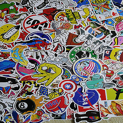 100pcs Random Skateboard Vinyl Sticker Graffiti Laptop Luggage Car Bomb Decal