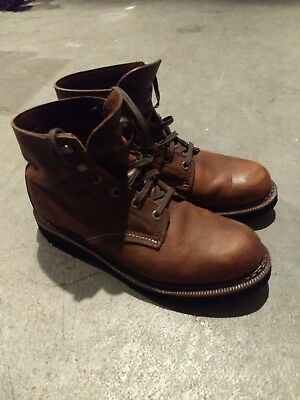 9132724e5ce WOLVERINE 1000 MILE - Duvall Plain Toe Boot Brown USED