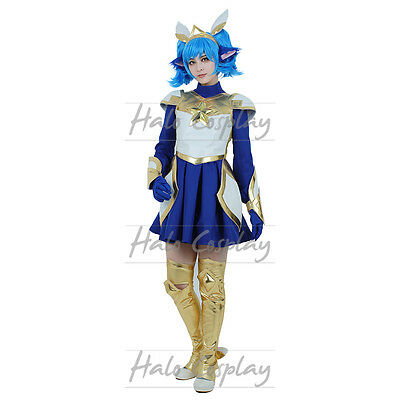 LOL Star Guardian Poppy Costume League of Legends Cosplay Shirt Skirt Accessorie