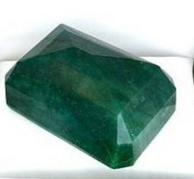 1276.45CT Emerald Cut Green Beryl Emerald Gem Estimated Replacement Value $10.2K