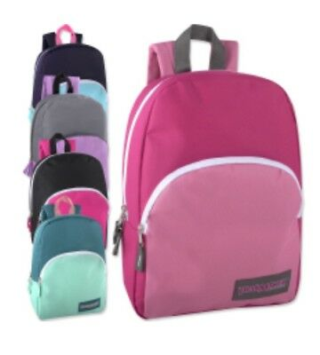 07c0b2b4e3cf Lot of 24 Wholesale Trailmaker Classic 15 Inch Backpacks in 5 Assorted  Colors!