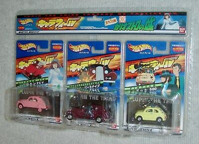 NEW Castle of Cagliostro Lupin The 3rd Hot Wheels set JPN RELEASE ONLY Fiat 500