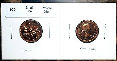 Canada 1956 Small Cent *Rotated Dies* Choice to Gem BU UNC MS Red!!