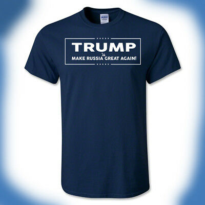 Donald Trump T-Shirt Make Russia Great Again Anti-President Putin Impeach Funny