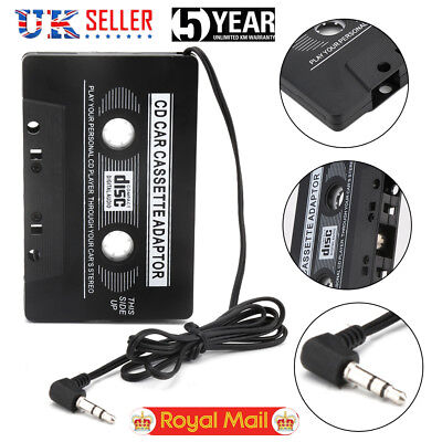 1×Car Cassette Tape Adapter Converter for MP3 iPhone 4/4S iPod Touch Nano CD/MD