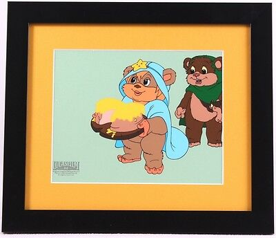 Star Wars Ewok Custom Framed Animation Sericel limited Original Lucas film