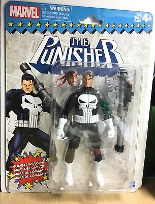 MARVEL LEGENDS THE PUNISHER VINTAGE RETRO CARD SEALED Action Figure 6 inch