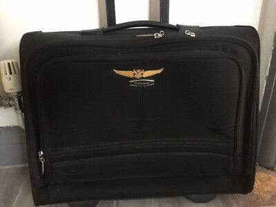 Pilots Cabin Crew Used Flight Bag With Collectable Wings
