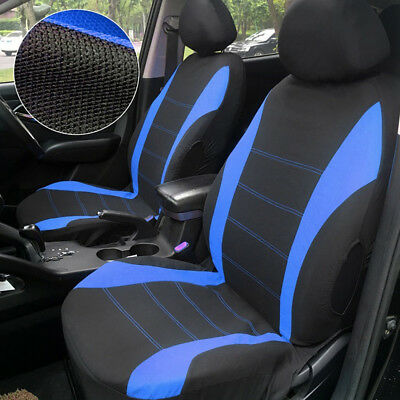 Universal Car Seat Covers Protectors Blue Black Washable Front Rear Full Set