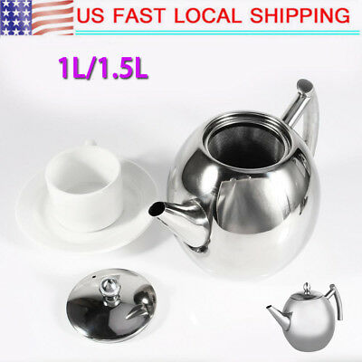 1/1.5L Stainless Steel Tea Kettle Teapot for Stove Top Fast Boil Water Coffee US