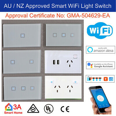 AU Approved Smart WiFi Light Switch or Dimmer for Downlight Google Home Alexa