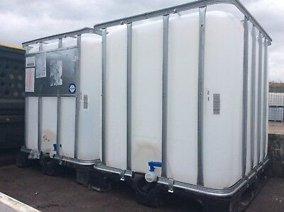 WATER STORAGE TANK IBC STILLAGE BUTT Fish koi diesel DELIVERY FOR 2 FROM £50 UK