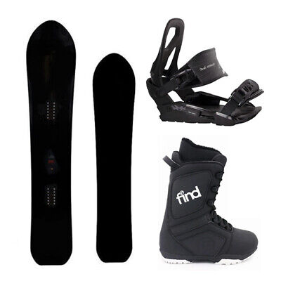 Savander Powty 160cm Wide Camber Snowboard  Package with Bindings & Boots