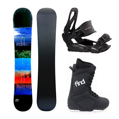 Aria Accent Colour 151cm Flat Rocker Snowboard Package with Bindings & Boots