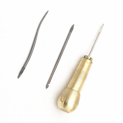 New 4pc/set Copper Sewing Shoes Leather Craft Repair Stitch Hook Needle Tool