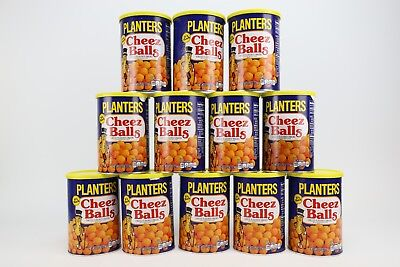 Planters Cheez Balls Cheese Snack New 2018 Limited Edition 12 full cans 2.75oz
