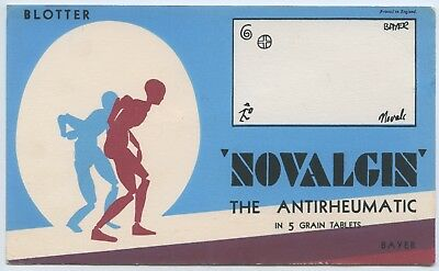 1950's Vintage Blotter Pharmaceutical Novalgin Anti Rheumatic Tablets Bayer O19.