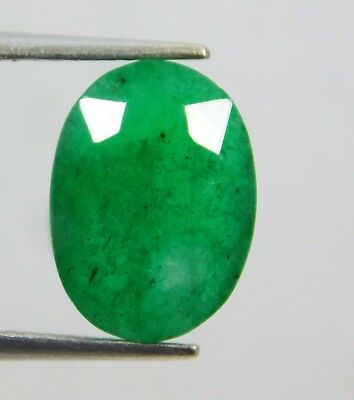 Natural 4.75 Ct Certified Oval Cut Colombian Loose Emerald Gemstone. 11016 HGD