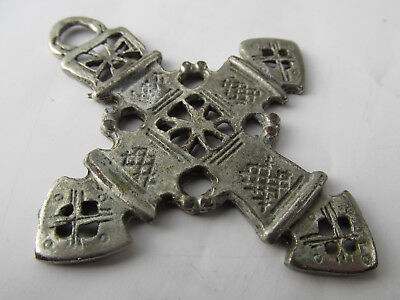 Lovely Medieval  silver plated cross