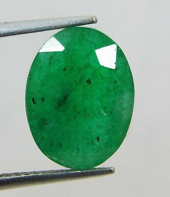 Natural 5.70 Ct Oval Cut Colombian Loose Emerald Gemstone. 11017 TYT