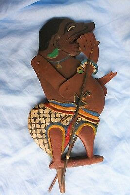 Vintage Wooden Indonesian Hand Made Painted Puppet