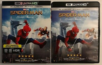 Spider Man Homecoming 4K Ultra Hd Blu Ray 2 Disc Set + Slipcover Free Shipping