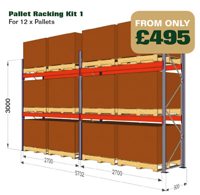Pallet racking, Industrial warehouse racking ***BRAND NEW LINK 51***  Heavy Duty