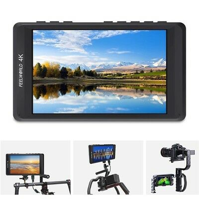 "FEELWORLD FW450 4.5"" IPS HD 4K 1280x800 HDMI DSLR On-Camera Field Video Monitor"