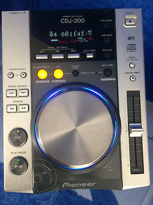 ►PIONEER CDJ 200◄LETTORE CD mp3 PLAYER PER DJ CDJ200 PROFESSIONAL PITCH CONTROL