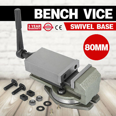 80MM Precision Swivel Vice Rotating Bench Clamp 80mm Jaw Width 14KN Milling