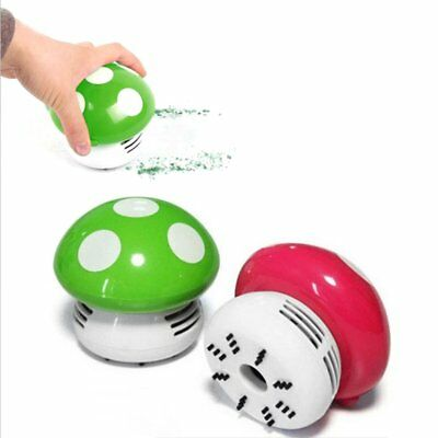 Mini Mushroom Desk Cleaner Vacuum Cleaner Cute Corner Table Dust Collector AZ