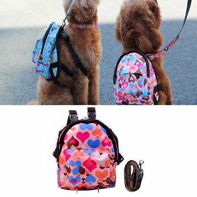 Pet Bag Backpack Cute Pink Heart/Lovely Blue Animal Backpack With Leash ZO