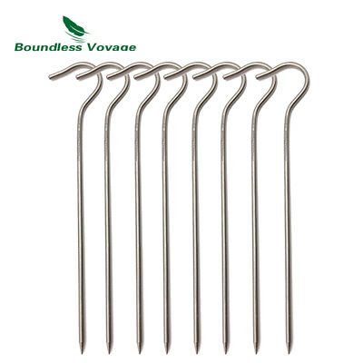 8pcs/lot Titanium alloy Pegs Camping Tent Pegs Portable Elbow Grass Nail Ti1556B