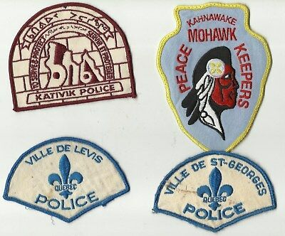 Lévis / St-Georges / Kativik / Mohawk (QUEBEC) Police Patches (USED)