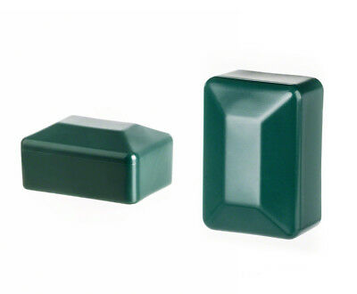 green post end cap rectangular plastic fence accessories cover tube plug