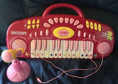 BONTEMPI Electronic Keyboard rosa rot