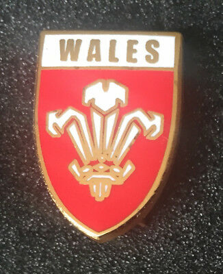 Wales Rugby Union Red Shield Enamel Pin Badge
