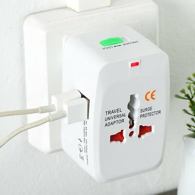 Universal Adapter Dual USB Power Charger Travel Electric Converter Plug AZ