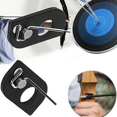 Schwarz Recurve Bow Adhesive Archery Rest Magnetic Metal Arrow-Right.Hand