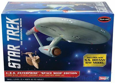 "Pol908/12 Polar Lights Star Trek U.s.s.enterprise ""space Seed"" Edition"
