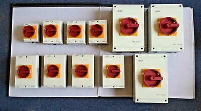 Rotary Isolator 4 Pole 20Amp 32Amp 40A 63A 80A 100A 125A  Weather Proof