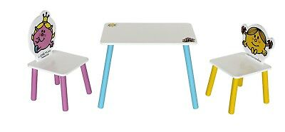 Little Miss-Table& 2 Chairs.Childrens Kids Wooden Table&Chair Set-By Kiddi Style