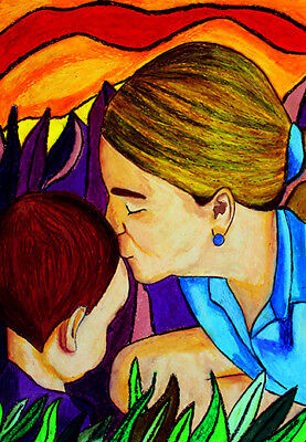 """""""Morning Kiss""""  8x10in matted black"""