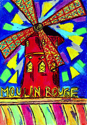 """""""Mouling Rouge""""  8x10in matted black"""