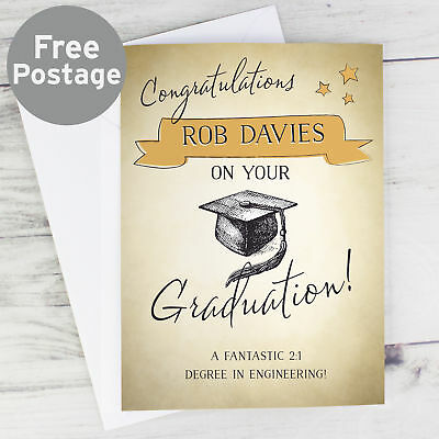 Personalised University College Graduation Gift Poem To Son