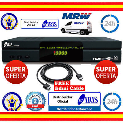 Decodificador Iris 9800 Hd Combo Wifi +Cable Hdmi 4K+Mrw 24H+2 Años Garantia