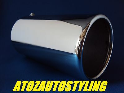 Universal Chrome Exhaust 90MM STRAIGHT Tail Pipe Trim