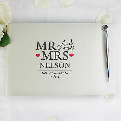 Personalised Mr   Mrs Guest Book   Pen School Stationery Gift Women Men 6dffef28ed